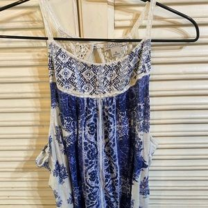 Lucky brand tank with lace back size xl